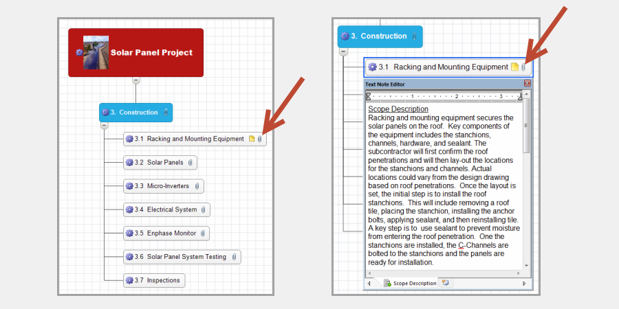 How to plan a project using mind mapping software pmmapping for Building mapping software